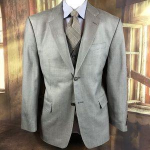 blazer Ralph Lauren blue black 100% wool size 40R